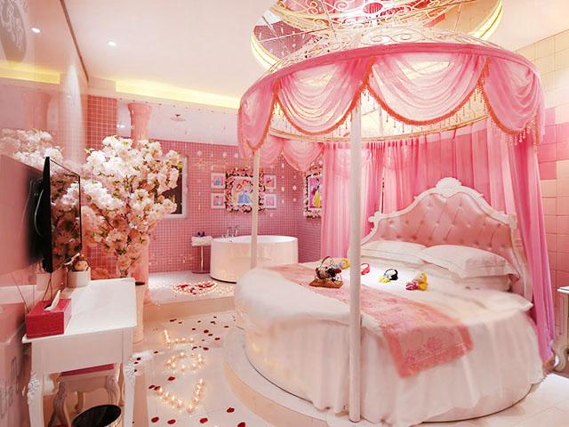 262 公主粉,圆床,冲浪浴缸,内窗 白雪公主 307vip低至¥215
